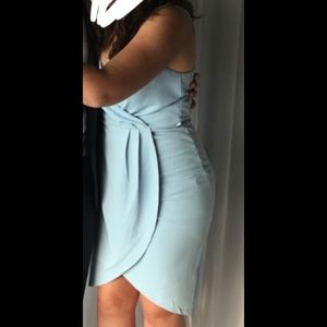 SPRING SALE 🌷 Another Story Sky Blue Wrap Dress